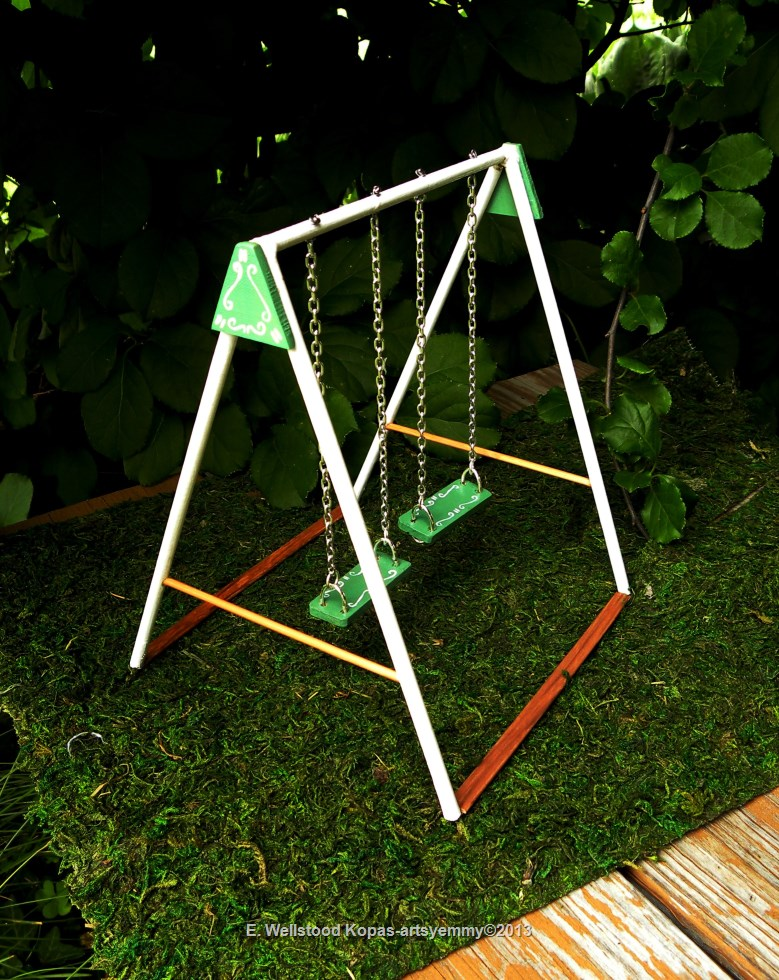 dollhouse collectible miniature swing set by