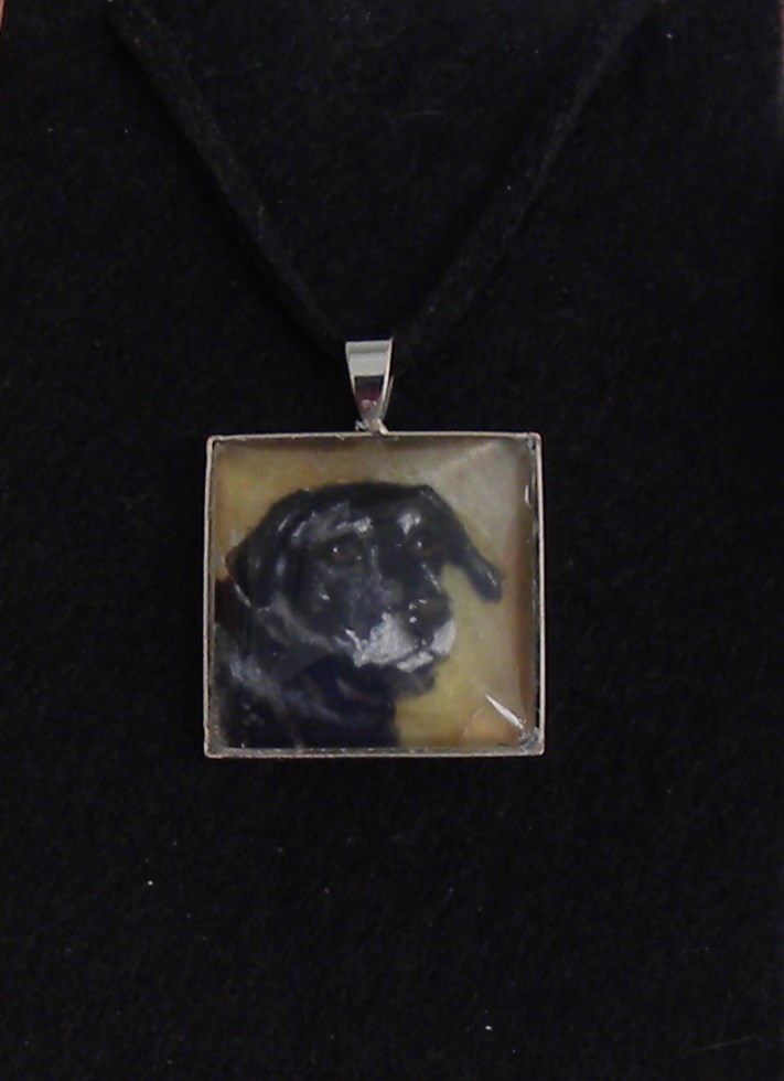 Pet Portrait Pendant Dog-Horse-Made to Order