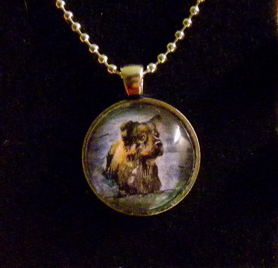 Custom Dog Portrait Pendant Necklace