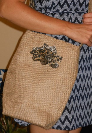 BURLAP Cross-Body Purse
