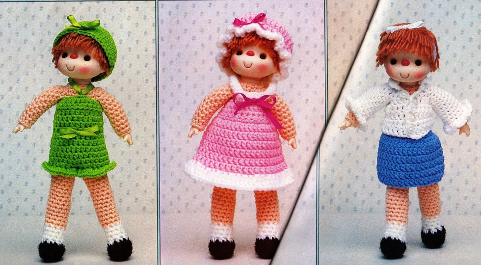 Sweet Sarah Doll & 6 Outfit Crochet Patterns