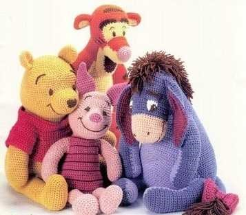 4x Disney Pooh & Friends Crochet Pattern