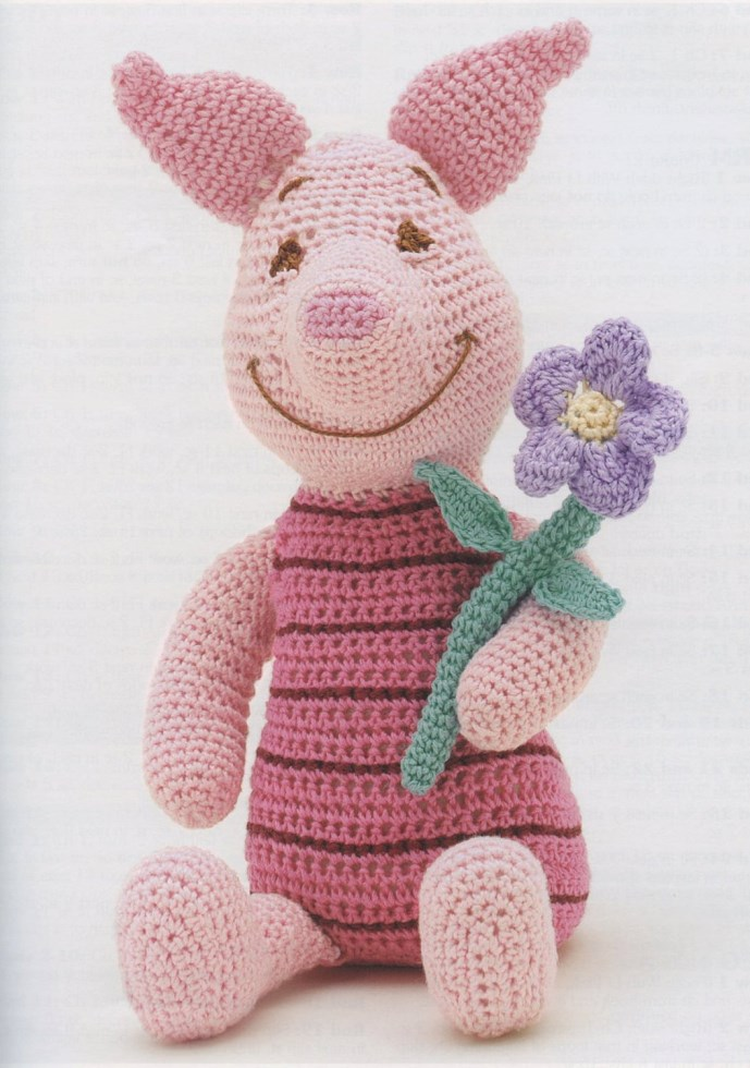 Disney Piglet Digital Crochet Pattern