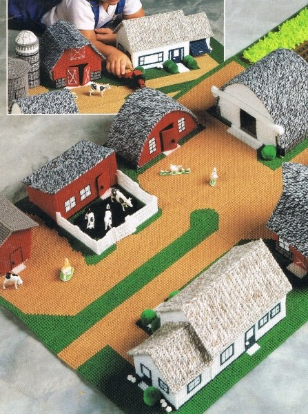 Boys Fold Up Farm Plastic Canvas Pattern