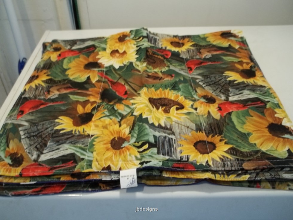 sunflower 4 placemats