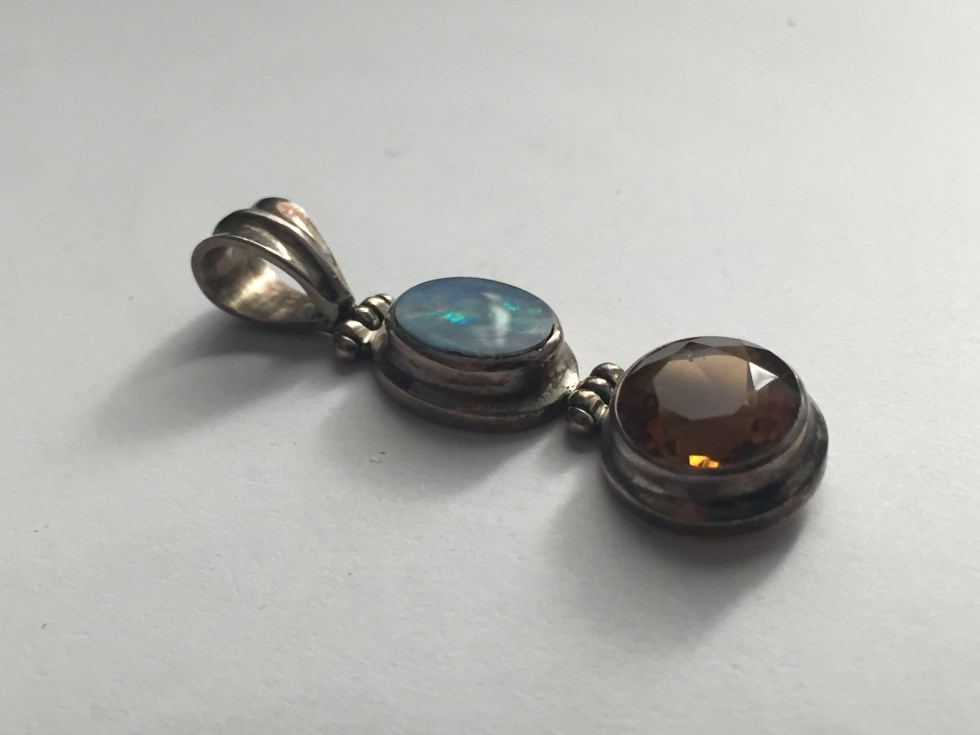 Opal and citrine necklace